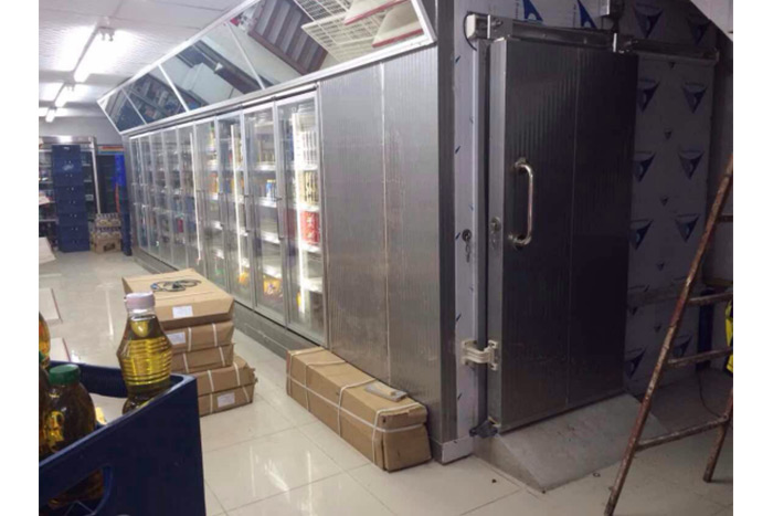 6000x2800x2400mm Freezer Cold Room Used In Supermarket In Panama.