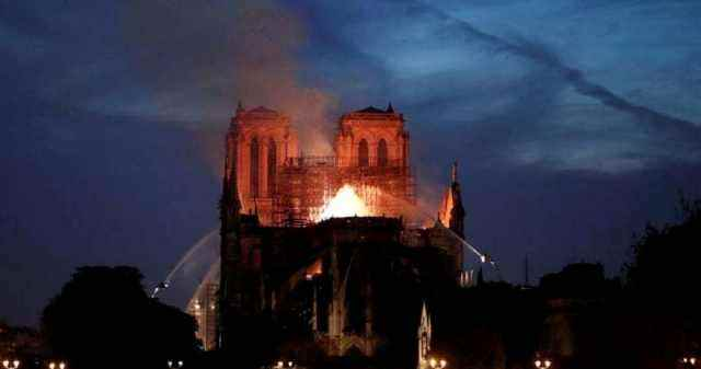 The Fire Of Notre Dame de Paris