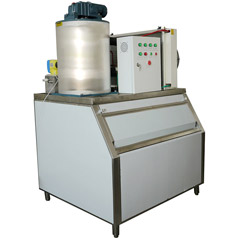 What should the flake Ice machine pay attention to when installing the device?